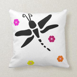 Libelle und Blumen Kissen