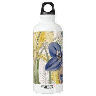 Libelle und Iris Wasserflasche