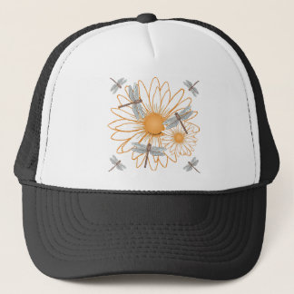Libelle weißes Gänseblümchen Truckerkappe