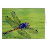Libellen-Aquarellmalerei Grußkarte