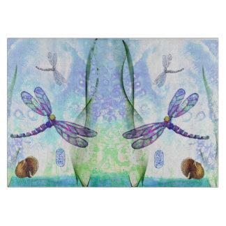 Libellen-dekoratives Glasschneiden-Brett Schneidebrett