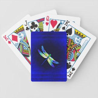 Libellen-elektrisches Blau - personifizieren Sie Bicycle Spielkarten