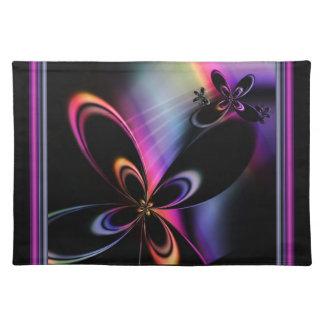 Libellen-Fraktal-elegantes Tischset