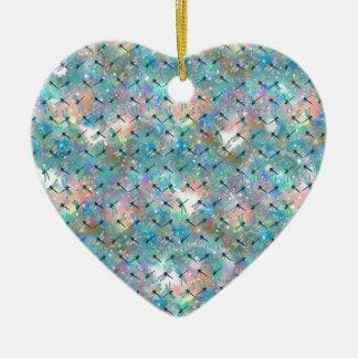 Libellen-Galaxie Keramik Herz-Ornament