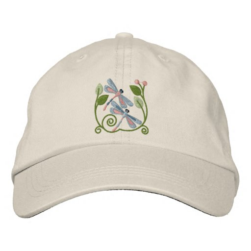 Libellen-Garten Bestickte Caps