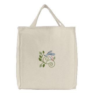 Libellen-Garten-Tasche Bestickte Tasche