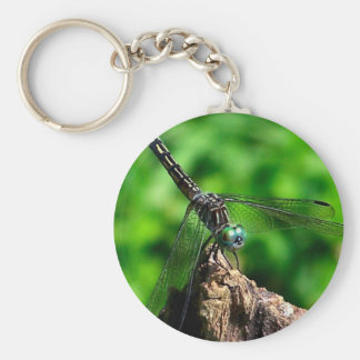 Libellen-Natur-Foto Keychain Schlüsselanhänger