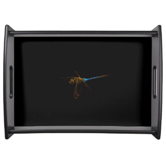 Libellen-schwarzes Serviertablett