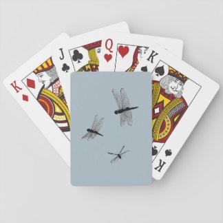 Libellen-Silhouette-Spielkarten Spielkarten
