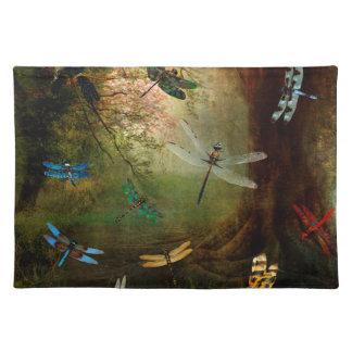 Libellen-Spielplatz Tischset