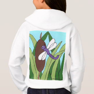 Libellen-Sweatshirt, lila Libelle Hoodie
