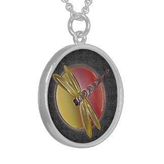 Libellen-Symbol-(schwarze) Halskette