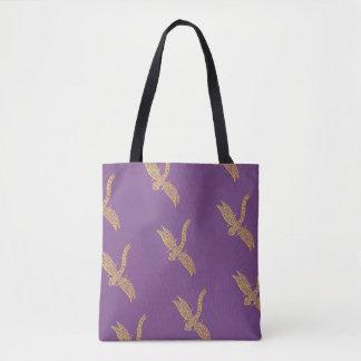 Libellen-Tasche (lila u. Gold) Tasche
