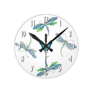Libellen-Wanduhr Runde Wanduhr