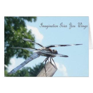 Libellenphantasie-Mitteilungskarten Karte