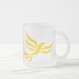 Liberaldemokrat-Logo Matte Glastasse