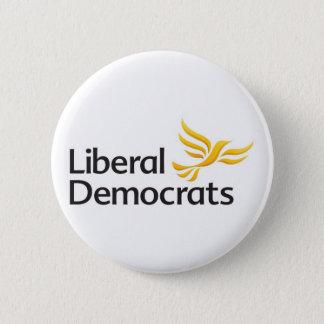 Liberale Demokrat-Knopf-Abzeichen Runder Button 5,1 Cm