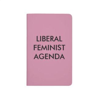 Liberale feministische Tagesordnung Notizbücher