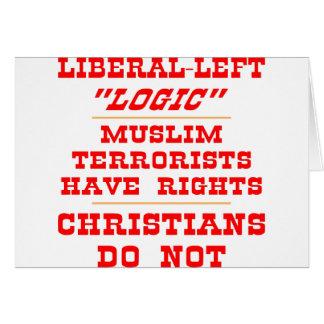 Liberale links Logik Karte