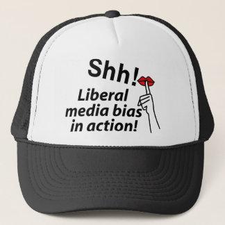 Liberale Medien schräg Truckerkappe