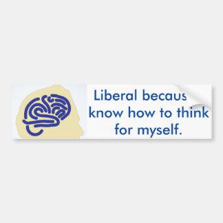 Liberaler Gedanke Autoaufkleber