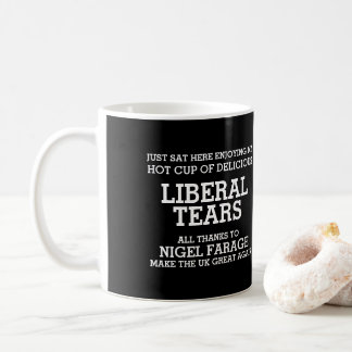 Liberaler zerreißt dank Nigel Farage Brexit Kaffeetasse