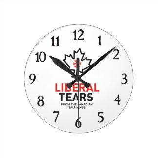 Liberaler zerreißt lustigen Föderalisten Runde Wanduhr