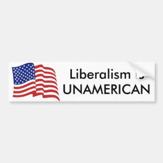 Liberalismus ist UNAMERICAN Autoaufkleber