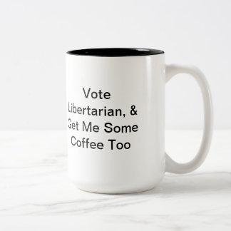 Liberalistische politische Kaffee-Tasse Zweifarbige Tasse