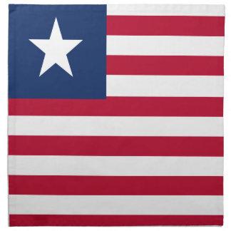 Liberia-Flagge Stoffserviette
