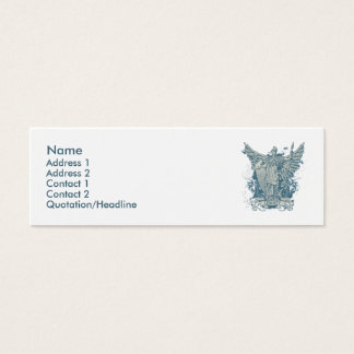 Libertas Blau-Visitenkarte Mini Visitenkarte