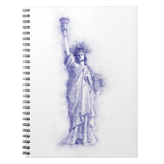 Liberty, New York, Manhattan, USA, Amerika Notizblock
