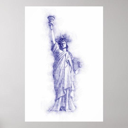 Liberty, New York, Manhattan, USA, Amerika Poster
