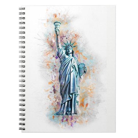 Liberty, New York, Manhattan, USA, Amerika Spiral Notizblock