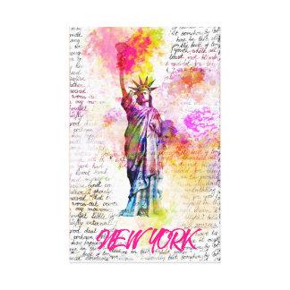 Liberty New York. Rainbow Color Illustration Leinwanddruck