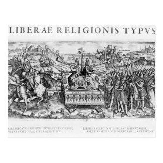 Librae Religionis Typus', Allegorie Postkarte