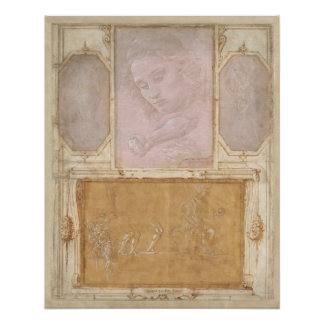 Libro de Disegni durch Botticelli, Lippi, Vasari Poster