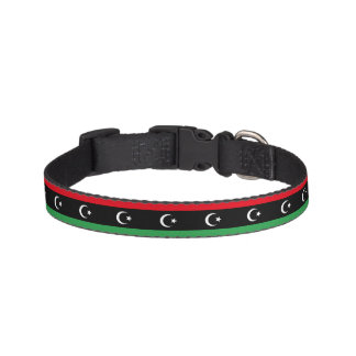 Libyen-Flagge Haustierhalsband