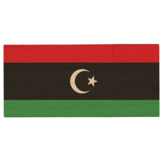 Libyen-Flagge Holz USB Stick 3.0