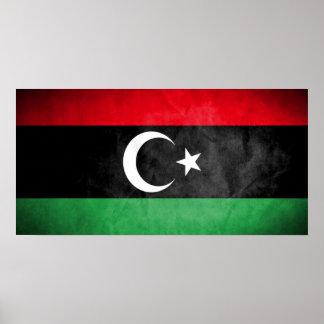 Libyen-Flagge Poster
