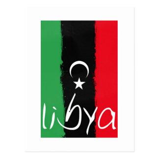 """""""Libyen"""" Königreich von Libyen-Flagge (1951-1969) Postkarte"""