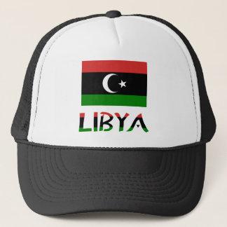 Libyenflagge u. -wort truckerkappe