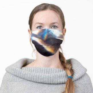 Licht auf der Oberfläche Stoff Mund-Nasen-Masken