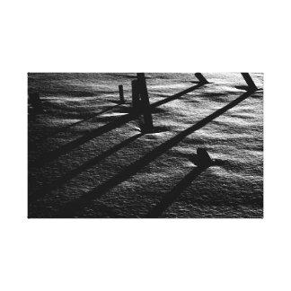 Licht des niedrigen Winkels in hochauflösendem Gespannte Galerie Drucke
