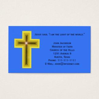 Licht des Weltkreuzes christlich Visitenkarte