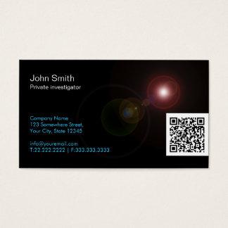 Licht erweitert sich Forscher-Visitenkarte Visitenkarte