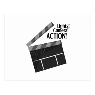 Licht-Kamera-Aktion Postkarte