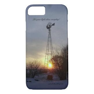 Licht über dem Grasland - Grasland-Meilen-Reihe iPhone 8/7 Hülle