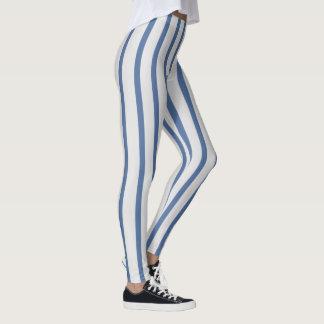 Licht und mittlere blaue Streifen Leggings