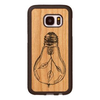 Licht-und Wachstums-Birnen-Kasten Samsung Galaxy S7 Holzhülle